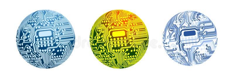 Esfera do circuito ilustração stock