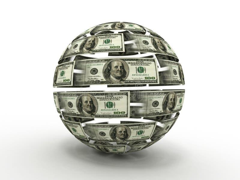 Esfera do dólar ilustração stock