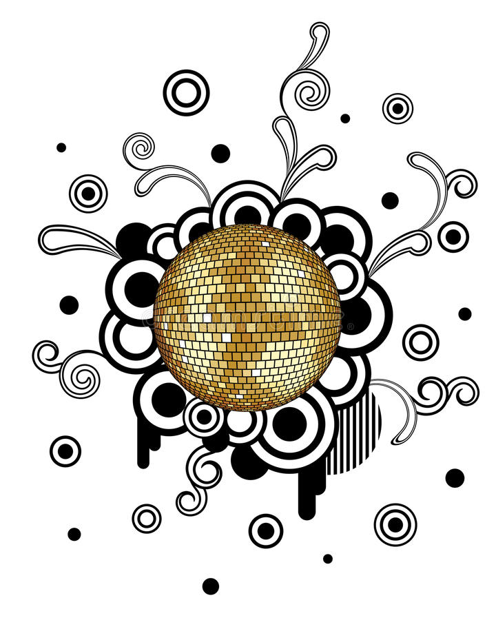 Esfera do disco ilustração royalty free