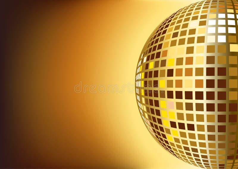 Esfera do disco do espelho ilustração stock