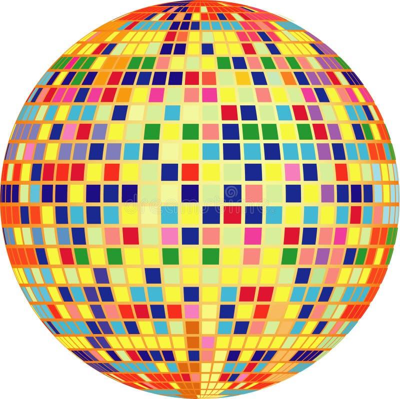 Esfera do disco do vetor ilustração do vetor