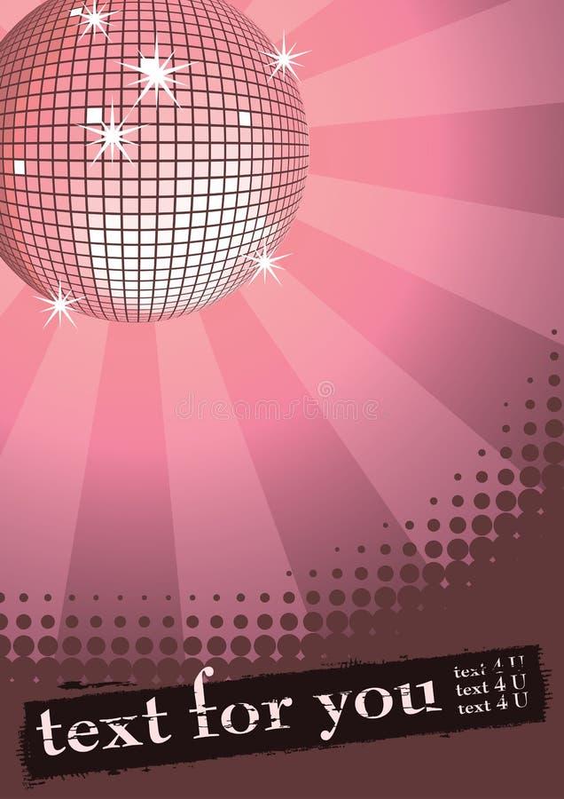 Esfera do disco na cor-de-rosa. ilustração royalty free