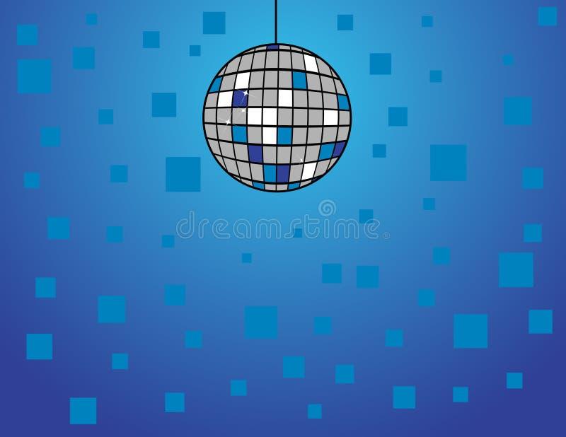 Esfera do disco no azul ilustração royalty free