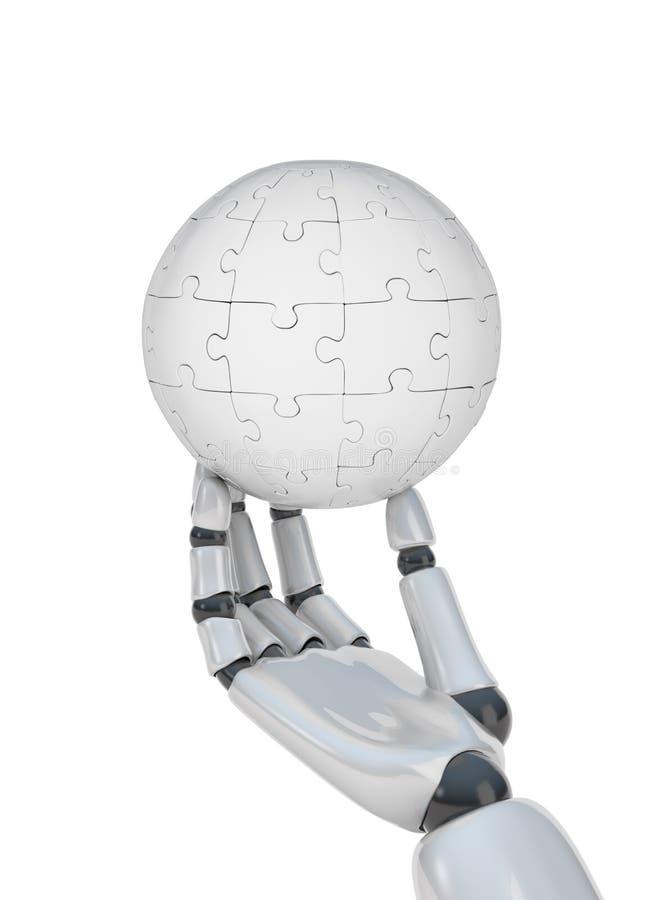 Esfera do enigma à disposicão do robô ilustração do vetor