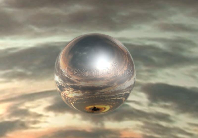 Esfera do espelho ilustração royalty free