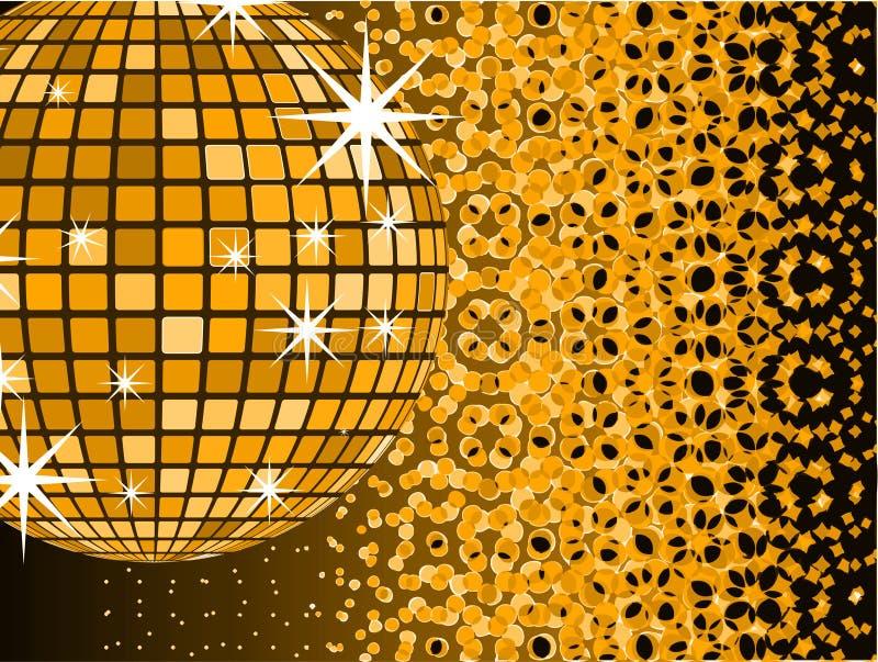 Esfera do espelho do disco com ilustração royalty free