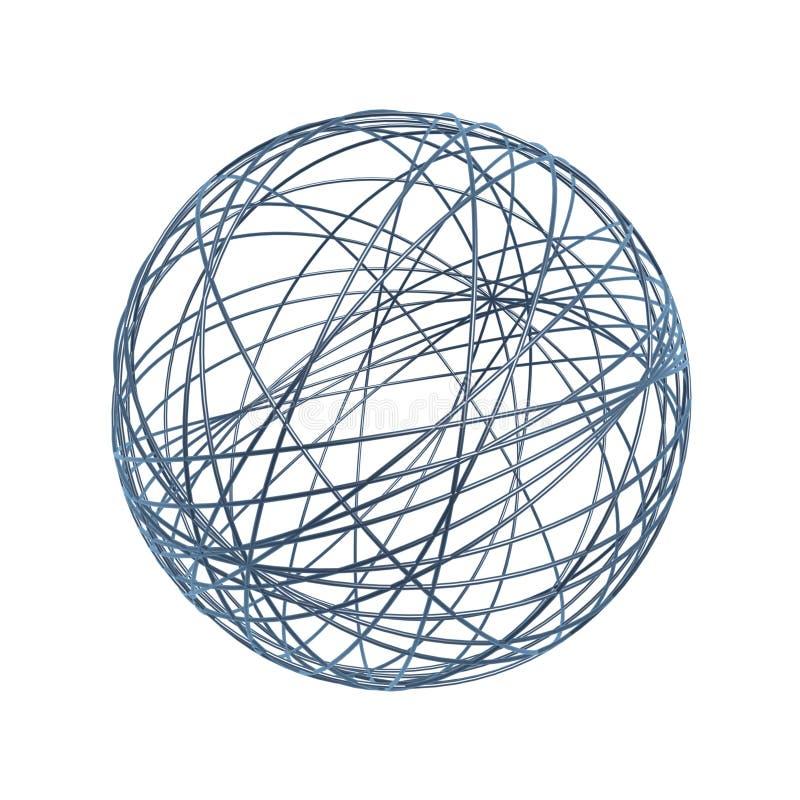 Esfera do fio do caos ilustração royalty free