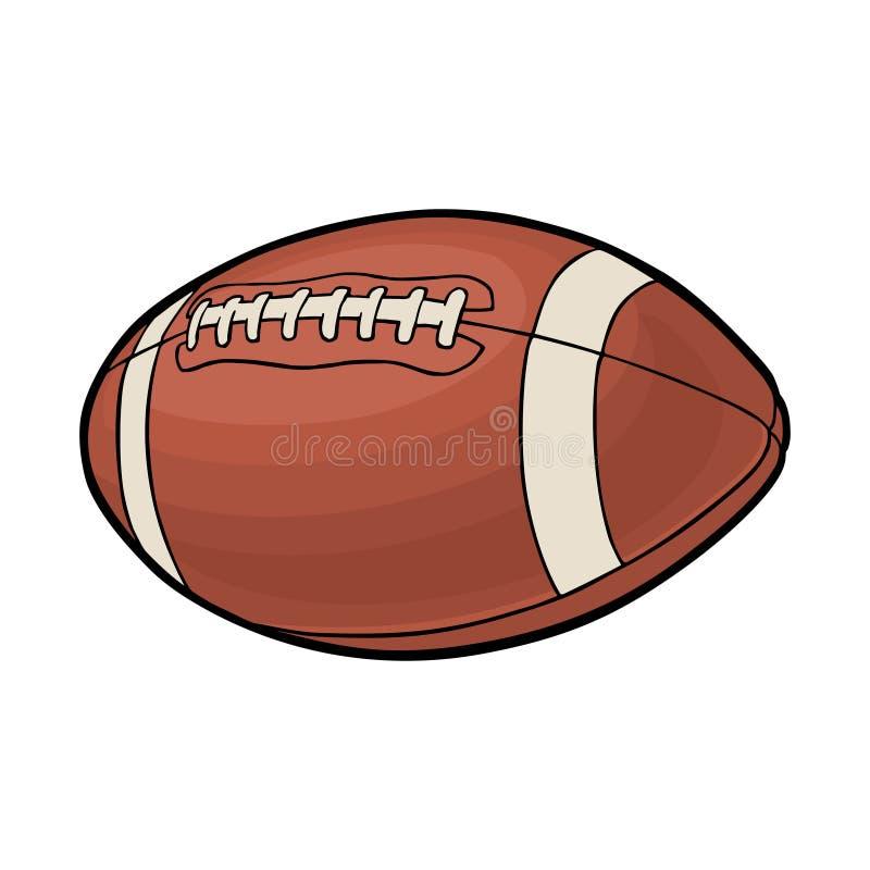 Esfera do futebol americano Ilustração de cor do vetor Isolado no fundo branco ilustração royalty free