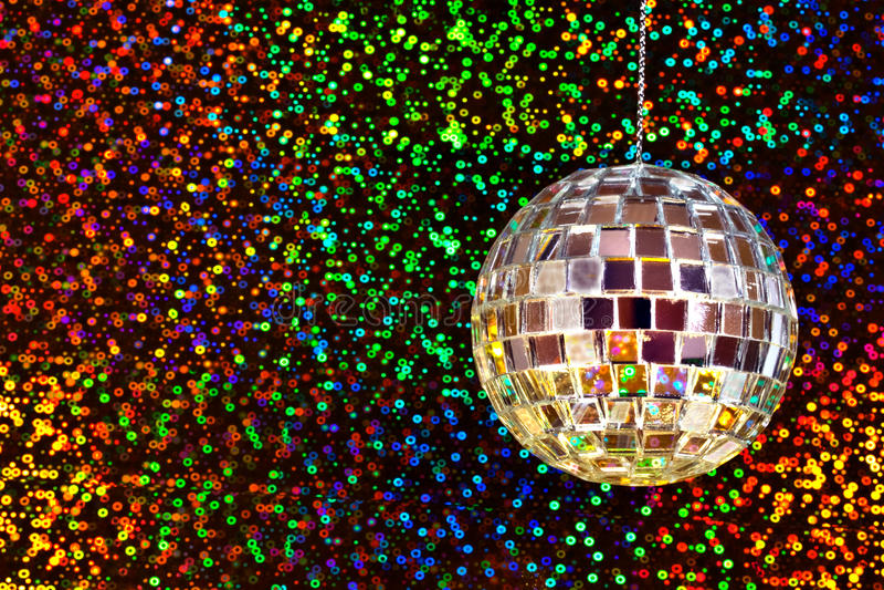 Esfera do glitter do disco imagens de stock