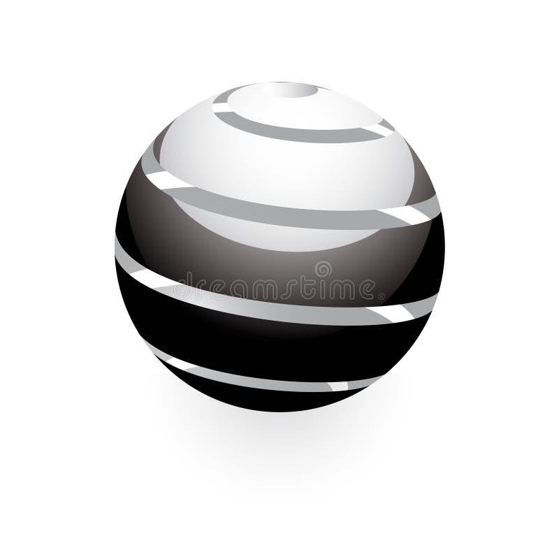 esfera do globo 3D ilustração royalty free