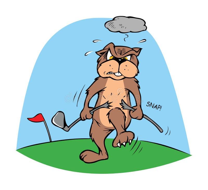 Esfera do Gopher e de golfe ilustração royalty free