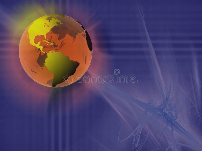 Esfera do mundo, espaço virtual. ilustração stock