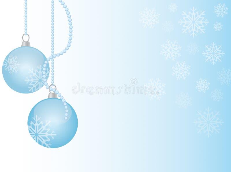 Esfera do Natal com floco de neve ilustração stock
