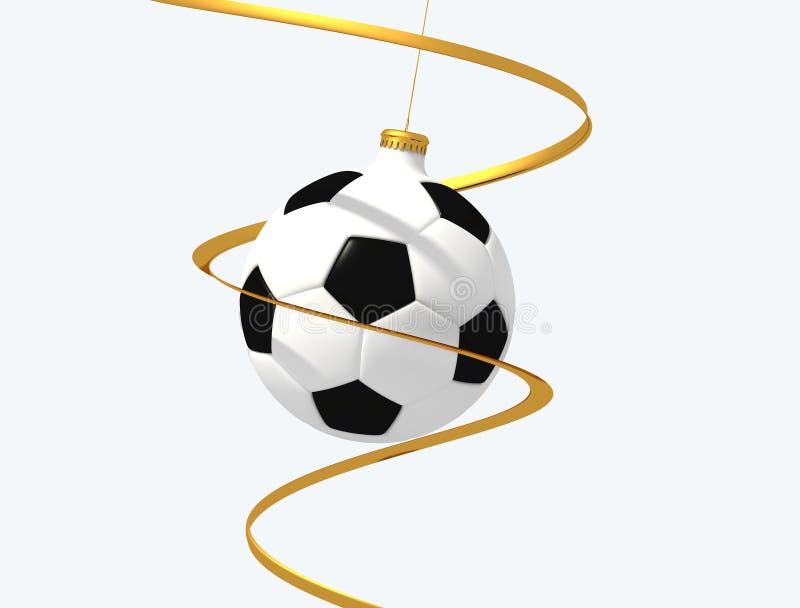 Esfera do Natal do futebol ilustração royalty free
