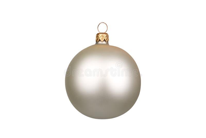 Esfera do Natal isolada no fundo branco imagens de stock