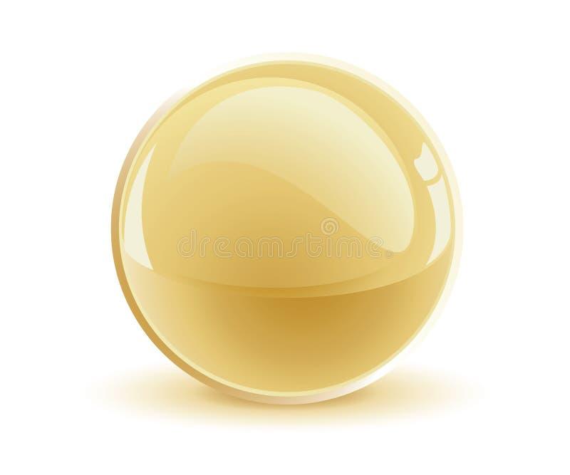 esfera do ouro do vetor 3d ilustração stock