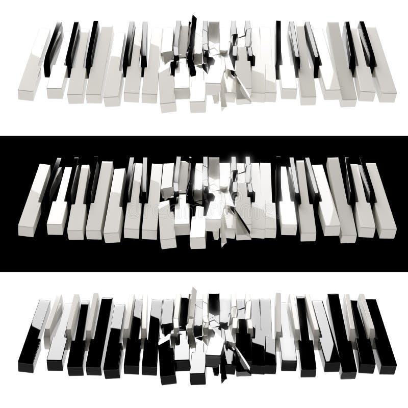 Esfera do piano ilustração do vetor