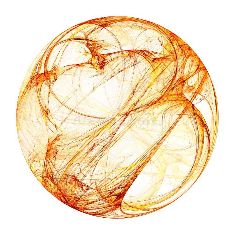 Esfera do plasma isolada em um branco ilustração do vetor