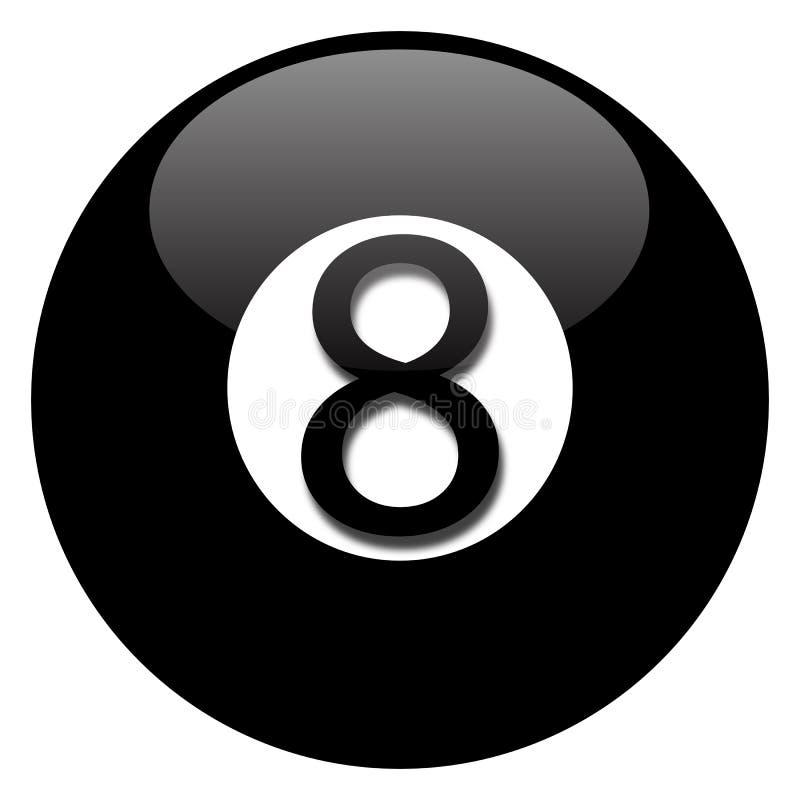 Esfera do preto oito ilustração do vetor