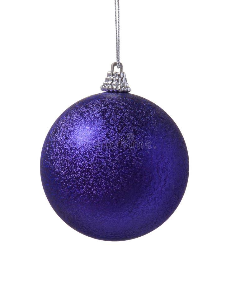 Esfera do roxo da decoração do Natal imagens de stock