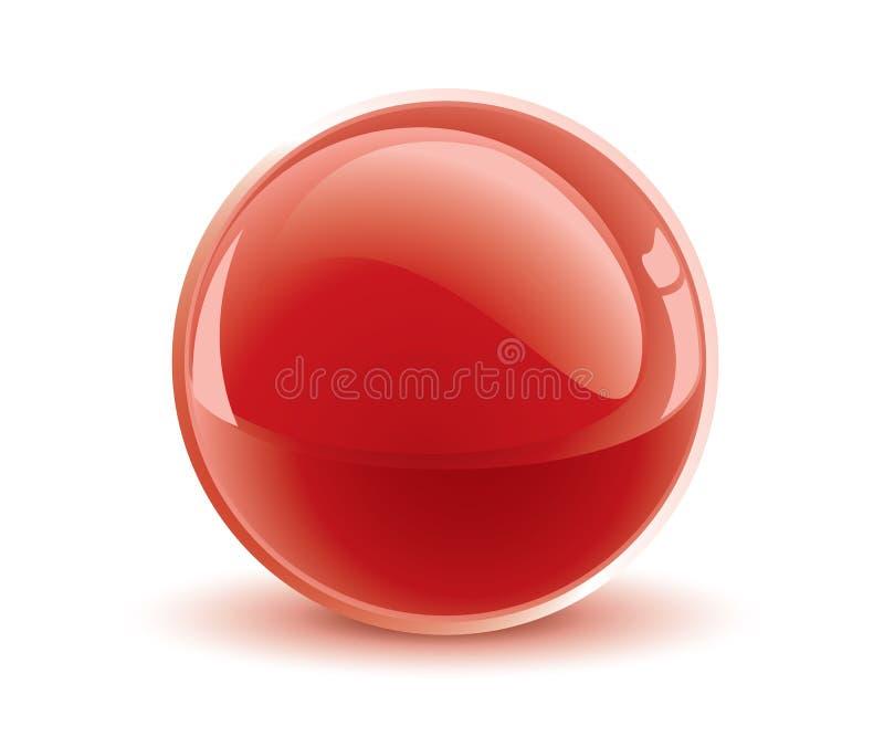 esfera do vermelho do vetor 3d ilustração do vetor