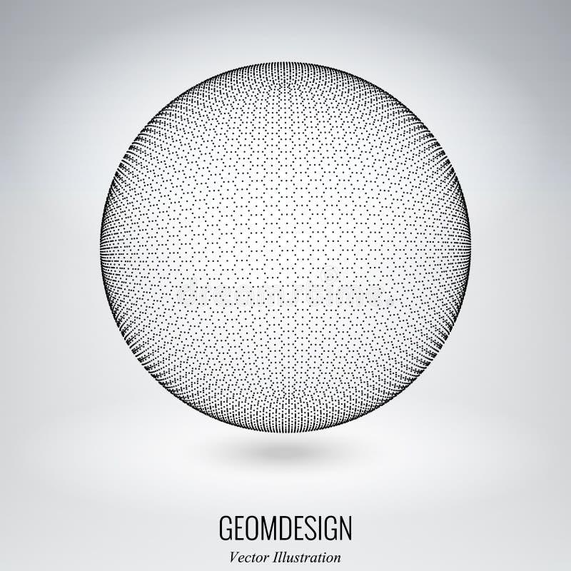 esfera do vetor 3d fotografia de stock