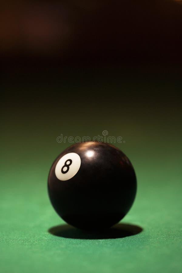 Esfera dos bilhar oito. imagem de stock royalty free