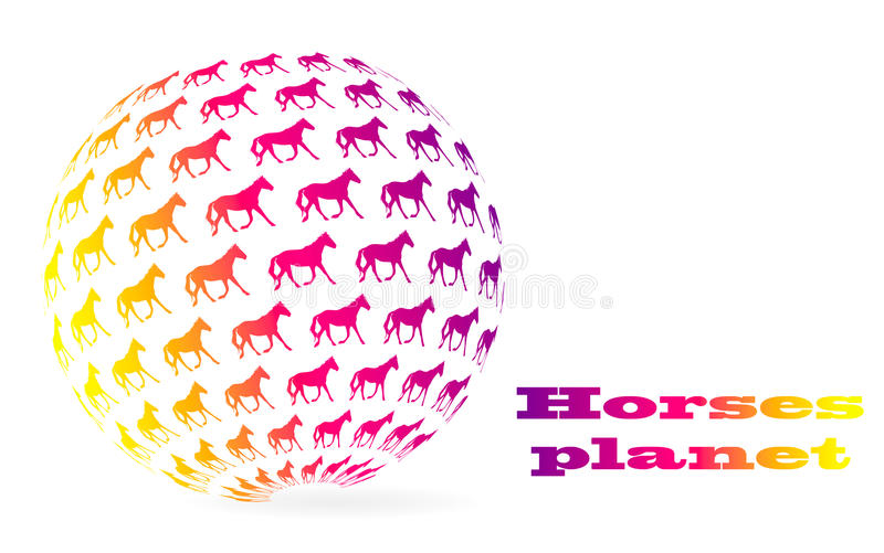 Esfera dos cavalos ilustração do vetor