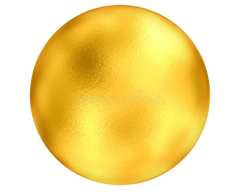Esfera dourada ilustração royalty free