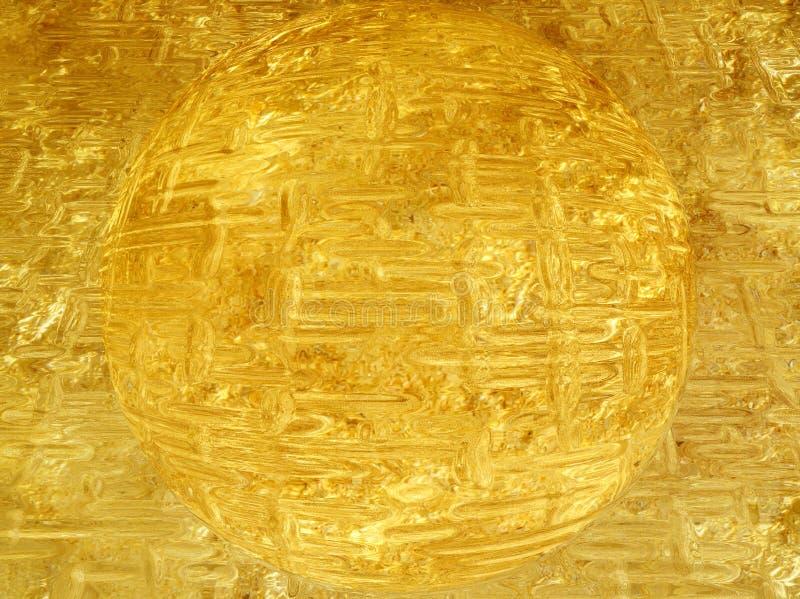 Esfera dourada bonita ilustração stock