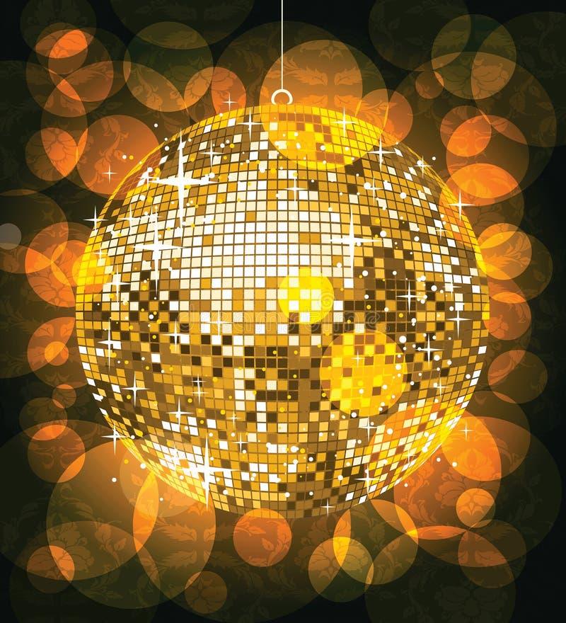 Esfera dourada do disco ilustração royalty free