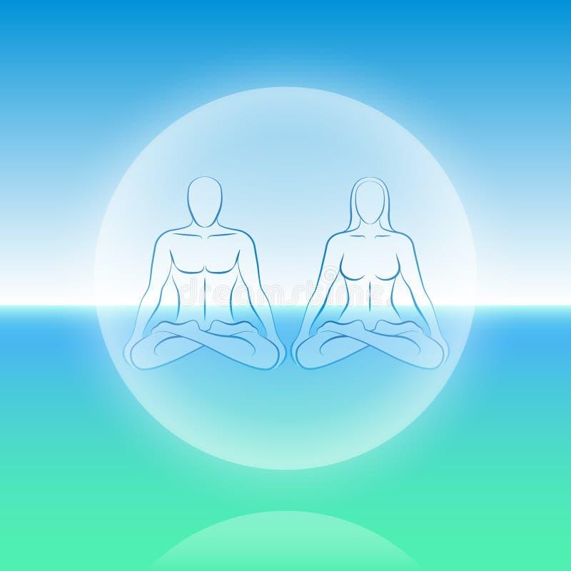 Esfera dupla da meditação da alma ilustração do vetor
