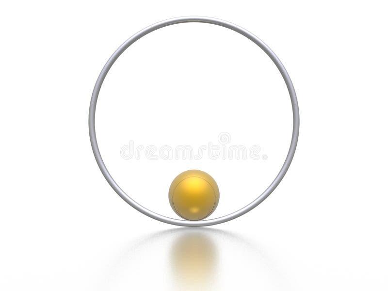 Esfera e anel ilustração royalty free