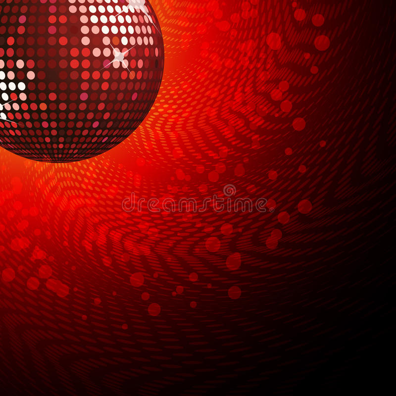 Esfera e haltone vermelhos do disco ilustração do vetor