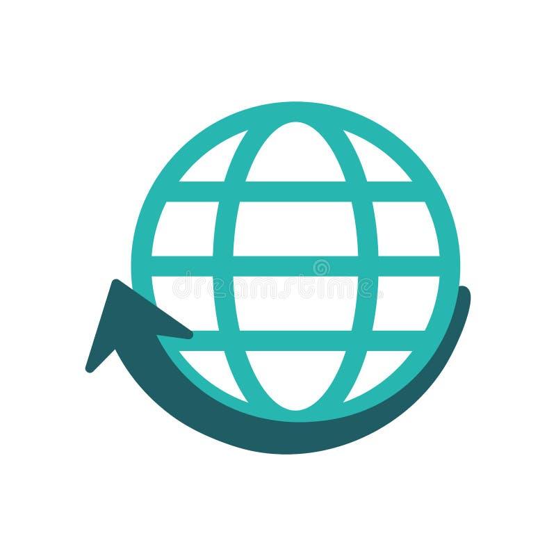 Esfera e projeto de uma comunicação global ilustração stock
