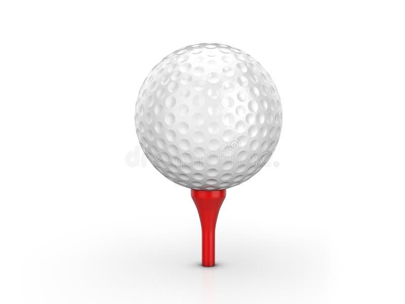 Esfera e T de golfe ilustração royalty free