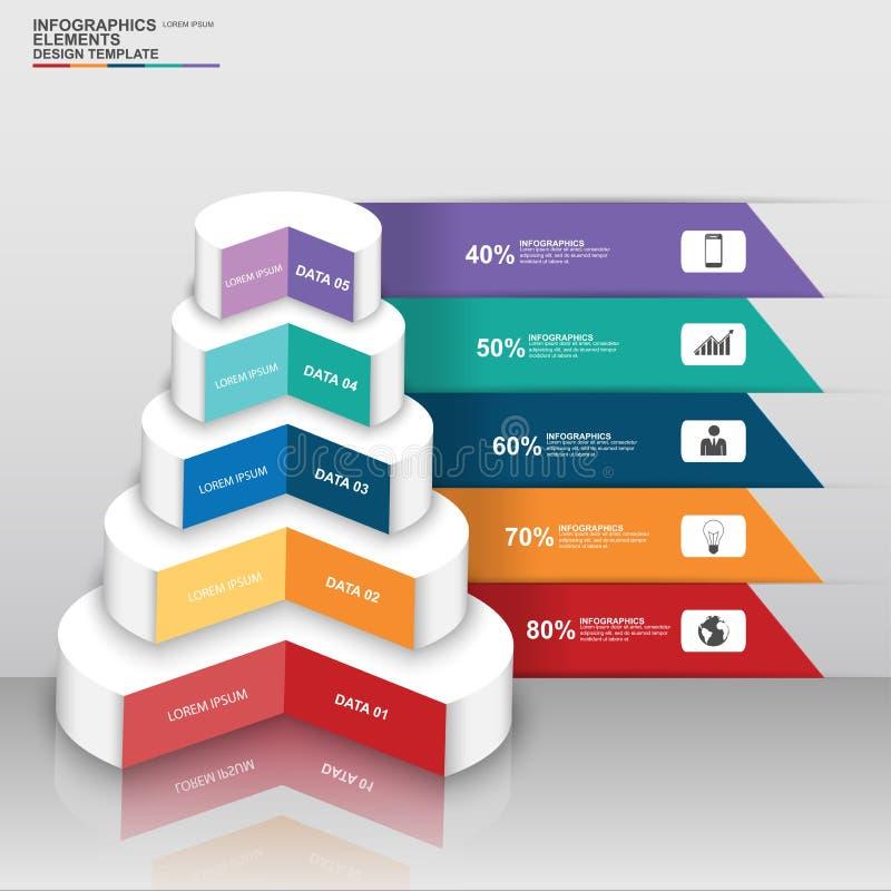 Esfera económica digital abstracta 3D Infographic stock de ilustración