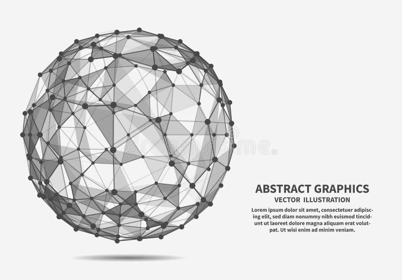 Esfera, ejemplo del vector Conexiones de red libre illustration