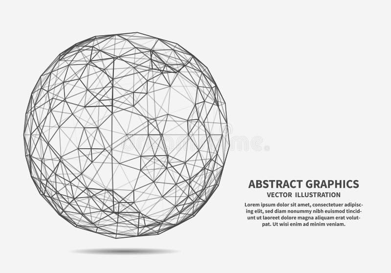 Esfera, ejemplo del vector Conexiones de red stock de ilustración