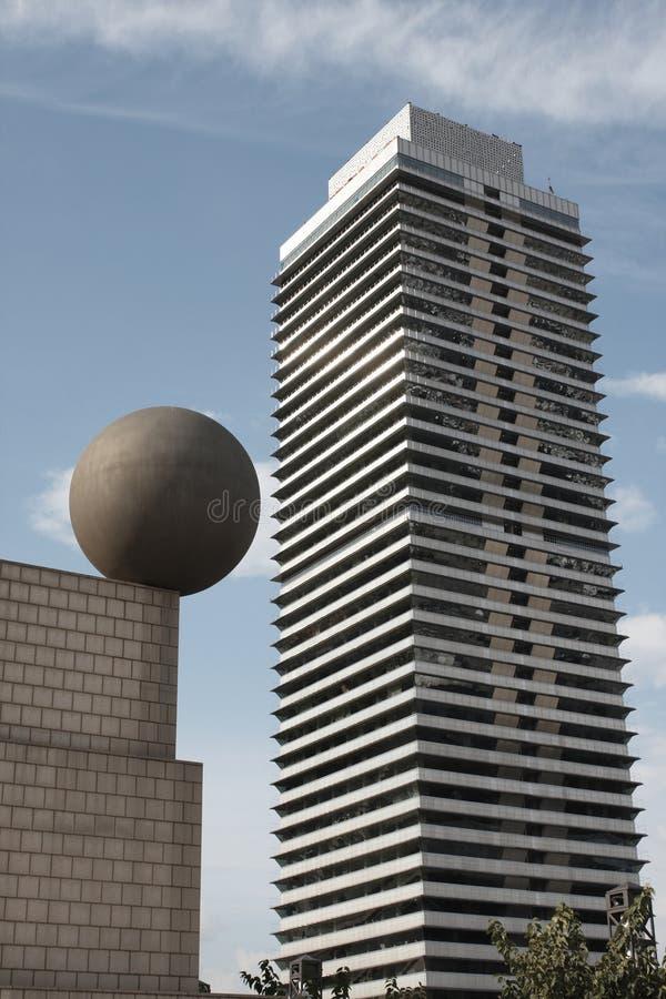 Esfera em um telhado imagens de stock