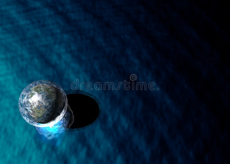 Esfera em uma bolha imagens de stock royalty free