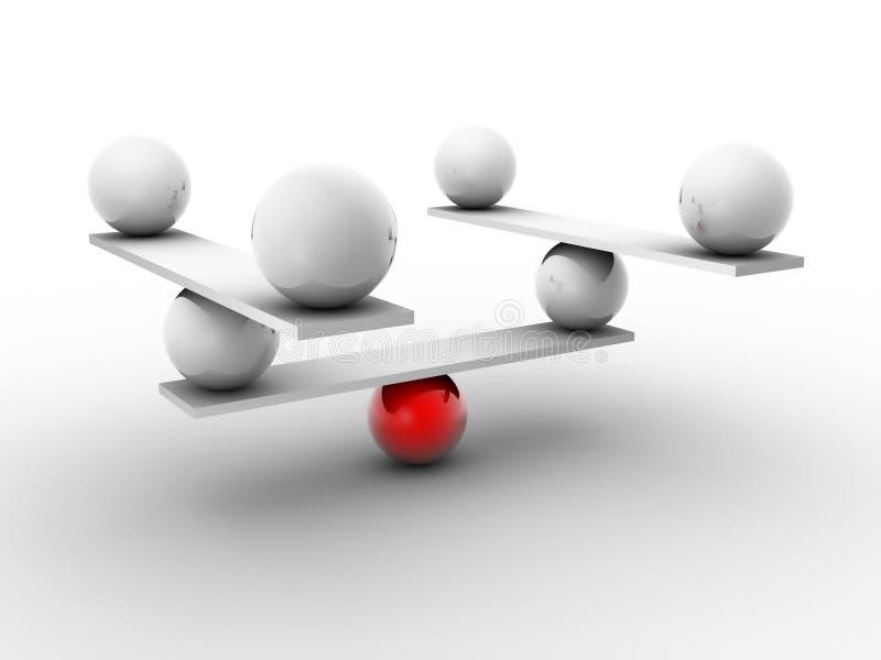 Esfera en equilibrio ilustración del vector