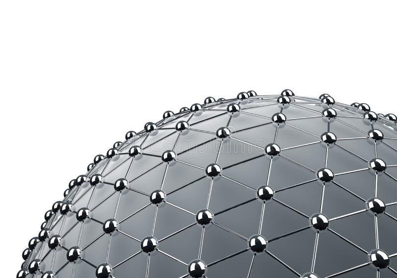 Esfera enredada del cromo libre illustration