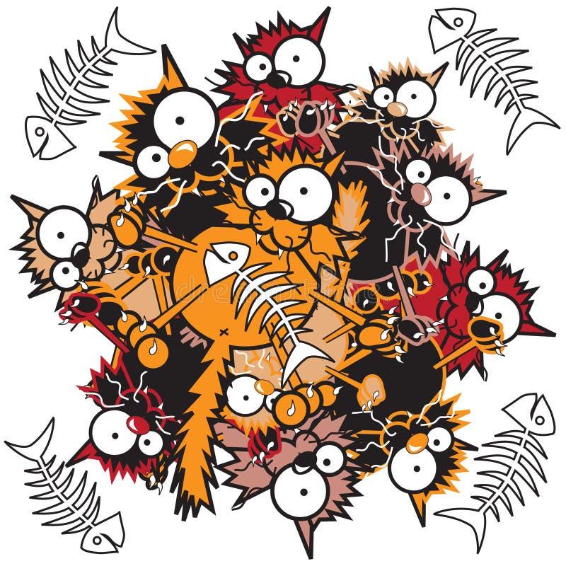 Esfera felino ilustração do vetor