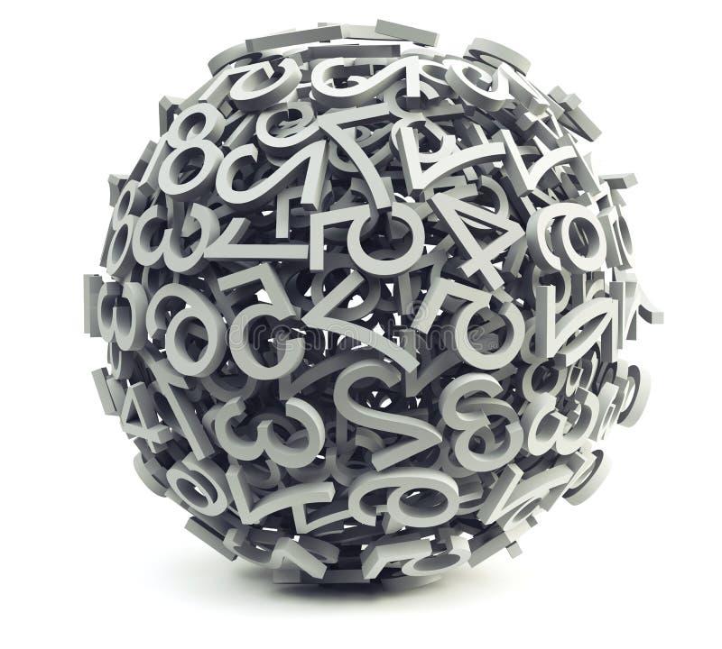 Esfera fora dos dígitos ilustração do vetor