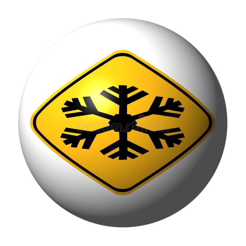 Esfera fria extrema do sinal de aviso ilustração royalty free
