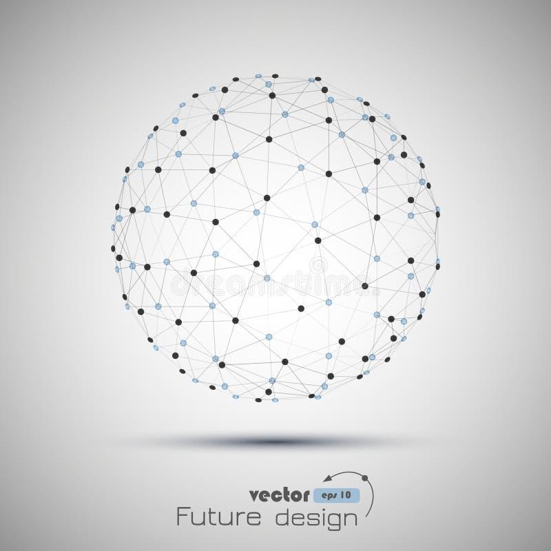 Esfera geométrica abstracta del vector ilustración del vector