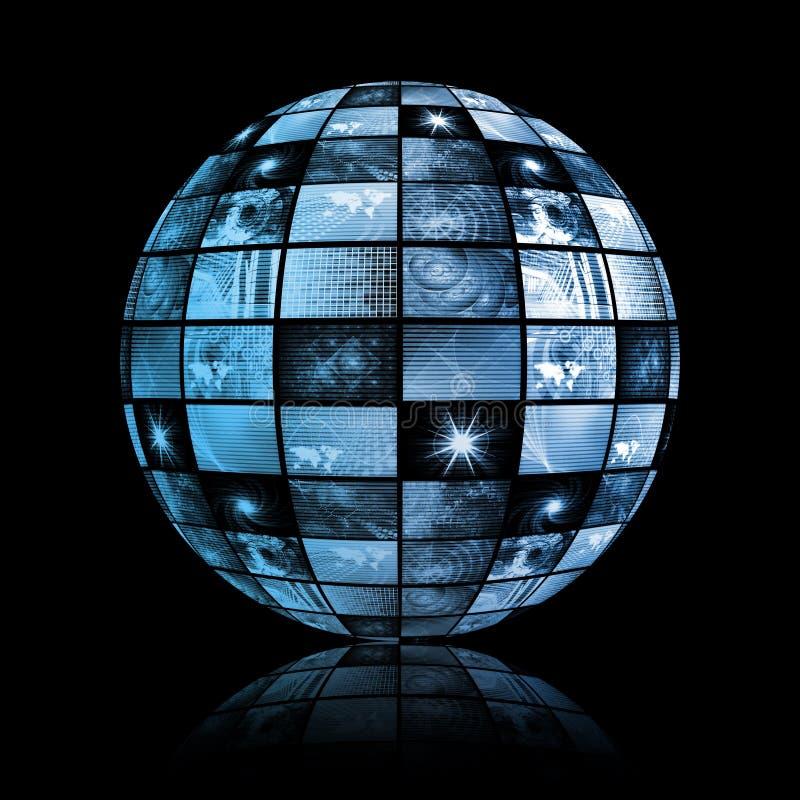 Esfera global do mundo da tecnologia dos media ilustração royalty free