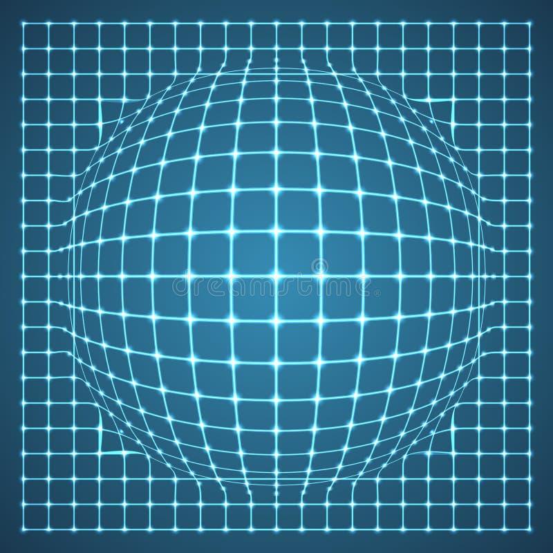 Esfera iluminada de la rejilla. stock de ilustración