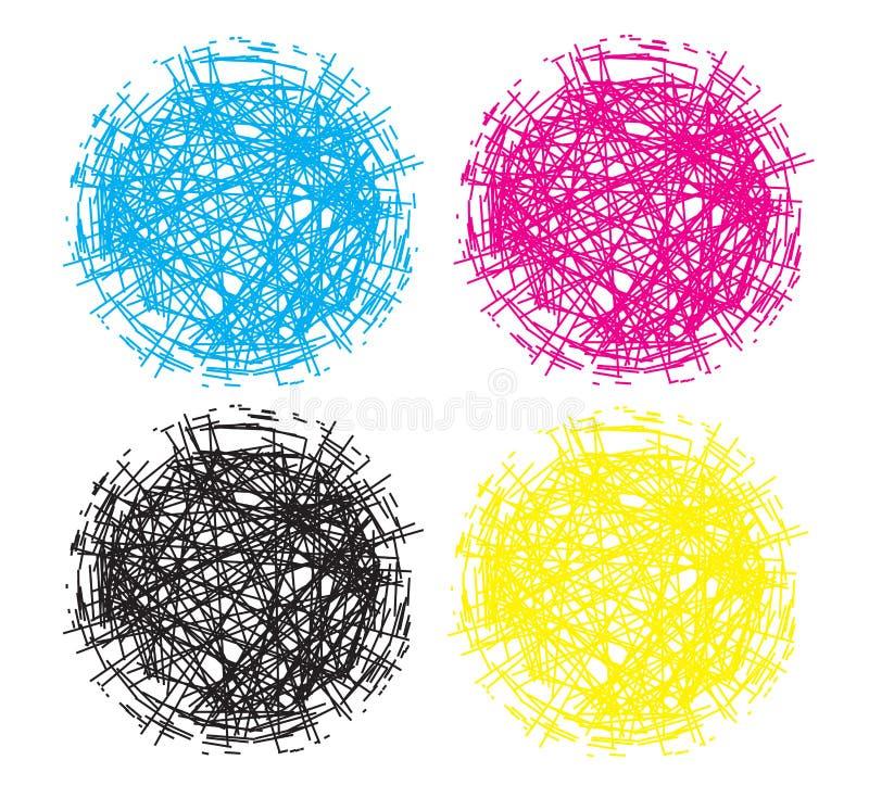 Esfera Logo Elements da bola do ninho do caos ilustração royalty free